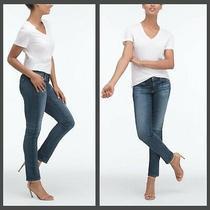 Mint Ag Adriano Goldschmied Women 29 X 31 the Stilt Roll Up Cigarette Jeans Blue Photo