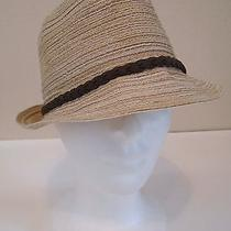 Mint by Goorin Coachella Boho Chic Paper Braid Trim One Size Fedora Trilby Hat  Photo