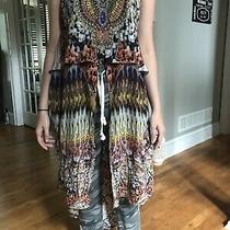 Mint Camilla Sleeveless Long High Low Top W/gorgeous Embellishments Sz 2 / Us M Photo