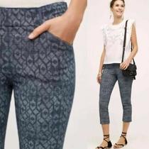 Mint   Cartonnier Anthropologie  Sz 6 Blue Marina Charlie Trouser Crop Pants   Photo