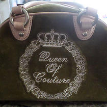 Mint Condition Juicy Couture Queen of Couture Velour Purse Handbag Used Twice Photo