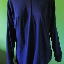 Mint Dark Blue Patagonia Capeline 1/2 Zip Ls Pullover Shirt Top  -Xl Photo