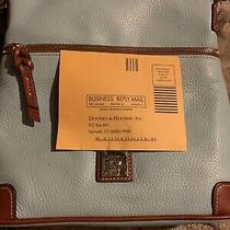 Mint Dooney and Bourke All Weather Leather Cream and Caramel Hobo Purse Handbag Photo