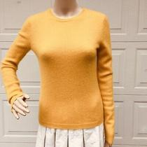 Mint Elie Tahari S Small 4 6 Yellow Gold Cashmere Tunic Sweater Top Pullover Photo