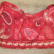 Mint Gorgeous Vera Bradley Mesa Red Small Hobo Handbag Purse Bag Carried Once Photo