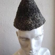 Mint Gray Grey Persian Lamb Fur Hat Men Man Size 21.5