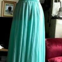Mint Green Full Circle Skirt 8 Rose Gold Coloured Zip Polyester Photo