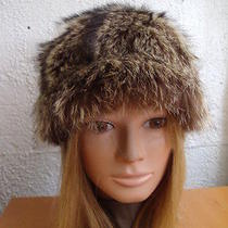 Mint Natural Raccoon Fur Hat Women Women Children Size 20.5