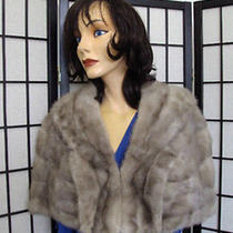 Mint Natural Sapphire Mink Fur Stole Wrap Shawl Women Woman Size 17