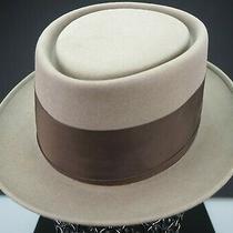 Mint/never Worn  Sz 7 Handcrafted 1940's Campbell Hat Co Fine Felt Pork Pie Hat Photo