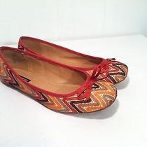 Mint Nine West Tribal Print Multi Color Ballet Flats Slip on Sz 6 Shoe Photo