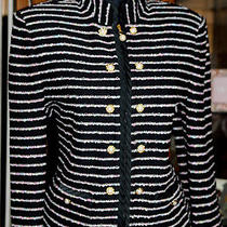Mint St John Collection Black/ Bright Colors Jacket/wrows Pattern Sz 10 Photo
