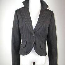 Mint Trina Turk Mutli Colored Pinstripe Black Jacket Blazer 4 Photo