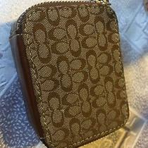 Minty Euc-Coach Signature Brown Travel Pill Case With Original Bottles Photo