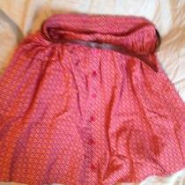 Mischimo Skirt W Buttons and Belt Colourful Sz M Like New Urban Outfitters Rad Photo