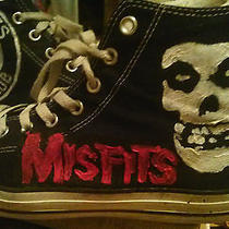 Misfits New Custom Handpainted Converse Chuck Taylor Shoes Sneakers Punk W Studs Photo