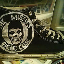 Misfits New Custom Handpainted Converse Chuck Taylor Shoes Sneakers W Studs Punk Photo