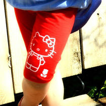Misha Lulu Hello Kitty Red Bicycle Shorts  Nwt Girl  10 Photo
