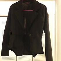 Miss Blush Black Peplum Blazer Size 8 Photo