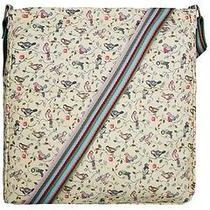 Miss Lulu Bird Canvas Messenger Bag Beige Photo