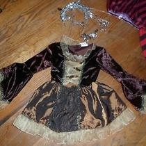 Miss Princess Fantasy Play/halloween Costume Sz3-5 Brown W Yello Silver Crown Photo