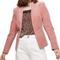 Miss Selfridge Womens Corduroy Blazer Blush Pink Size 2 Open-Front 88 705 Photo