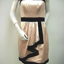 Miss Sixty Blush Margot Party Dress Mxa1019 Sz 0 Strapless Faux Wrap Skirt Nwt Photo