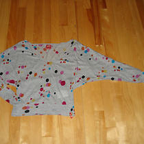Miss Sixty  v Neck Loose Sleeves Heather Grey Multi Color Bubbles 100% Cotton M Photo