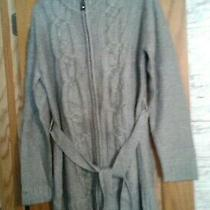 Misses Avon Zip Front Cable Sweater  Gray   Size Xl  Nwot Photo