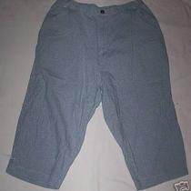 Misses Capris Medium Petite Classic Elements Blue White Photo