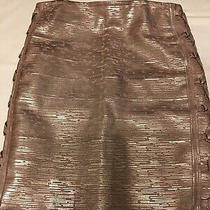 Missguided Rose Gold Metallic Bandage Elastic Skirt - Size 8 Photo