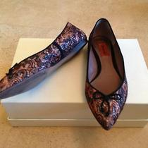 Missoni 38 8 Black Lace 100% Authentic Ballerina Flat Shoes and Prada Shoe Bag  Photo