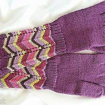 Missoni 4 Target Passione Purple Zig Zag Metallic Gloves M-L Child/woman New Photo