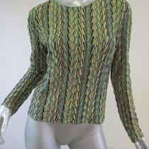 Missoni Aqua/purple/green Lurex Long Sleeve Top 42 Photo