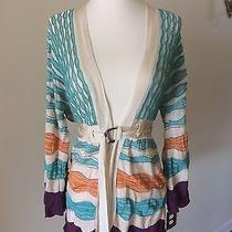 Missoni Authentic Kimono Sleeve Knit Belted Cardigan Sweater Euc Sz 44 / 8 Photo