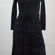 Missoni Belted Knit See-Through Dress Black S Photo