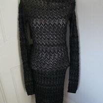 Missoni Black and Silver Dress Off the Shoulder Sz 38 Will Fit Uk 8-10  Photo