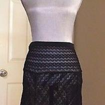 Missoni Black Sheet a-Line Skirt Small Photo