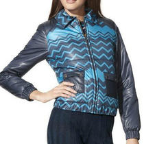 Missoni Blue & Aqua Zig Zag Spring Puffer Jacket Coat - Xl - Gorgeous 10 12 Photo