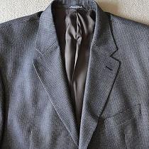 Missoni Blue Beige Wool Silk Blend 3-Button Side Vent Sport Coat Blazer Jacket Photo