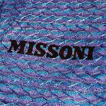 Missoni Blue/purple Zigzag Sciarpa Scarf New Photo