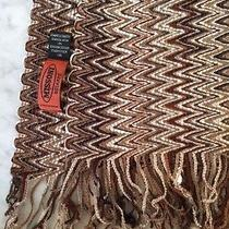 Missoni Brown Grey & Cream Chevron Zig Zag Pattern Acrylic/polyamide Scarf  Photo