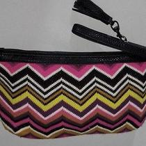 Missoni Colorful Striped Wool Hot Pink / Green Knit Purse / Wristlet  Photo