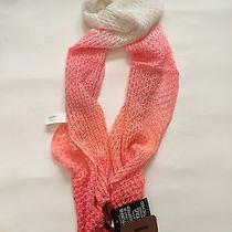 Missoni Crochet-Knit Ombre Scarf Pink Orange White Nwt Photo