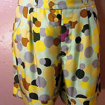 Missoni Cuffed Trouser Shortspolka Dot Silkseafoam Lilac Brown Yellow404-6-8 Photo