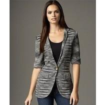 Missoni Dress Jacket Blazer Stripe 44 8 10 Black Wow Photo