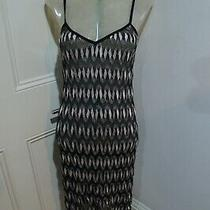 Missoni Dress Sz 38 Will Fit Uk 8-10 Black and Cream and Metallic  Photo