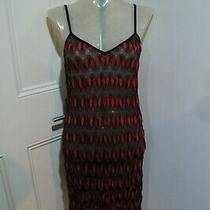 Missoni Dress Sz 38 Will Fit Uk 8-10 Black and Red & Metallic  Photo