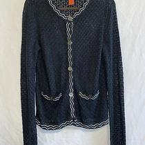 Missoni for Target Black White Trim Pockets Knit Cardigan Womens M Photo