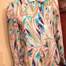 Missoni for Target Blouse Button Down Floral  Hippie Boho Medium Free Shipping Photo